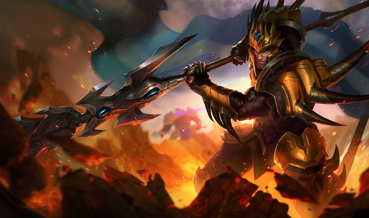 Jarvan IV, one of the most banned champions at the League of Legends World Championship 2017