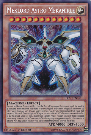 Meklord Astro Mekanikle, one of the best level 12 monsters in Yugioh