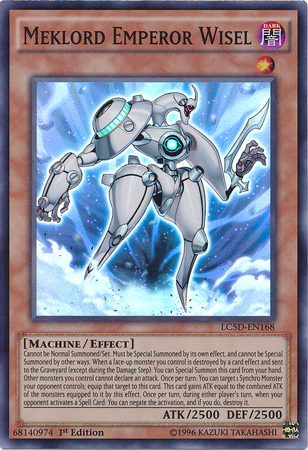 Meklord Emperor Wisel, one of the best level 1 monsters in Yugioh