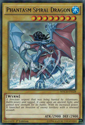 Phantasm Spiral Dragon, one of the best normal monsters in Yugioh