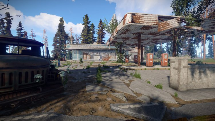 Oxum's Gas Station, one of the best momuments in Rust