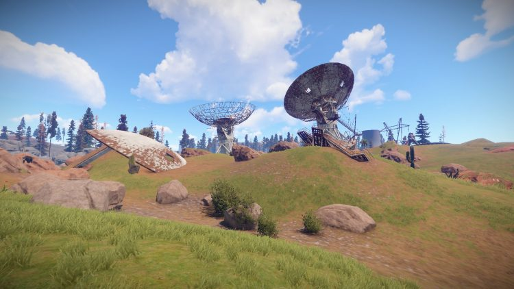 Satellite Dish, one of the best momuments in Rust