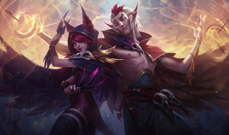 Xayah & Rakan, one of the most banned champions at the League of Legends World Championship 2017