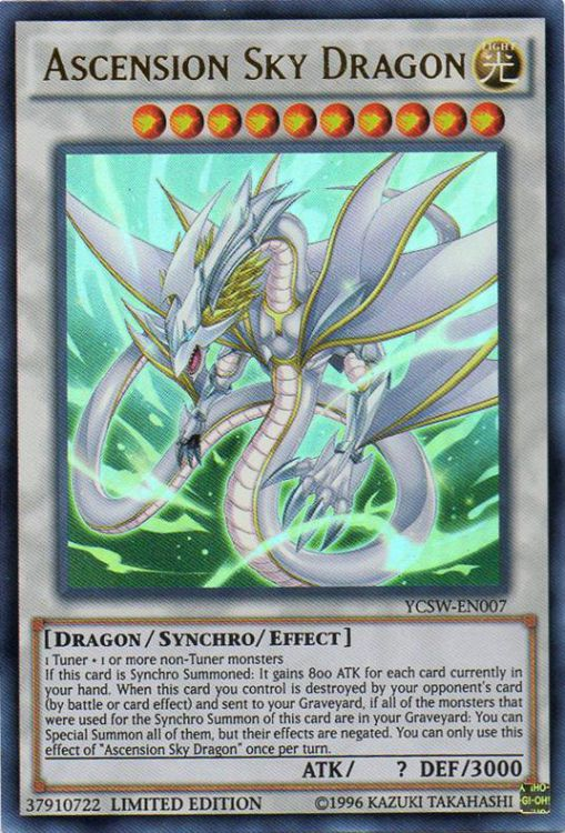 Ascension Sky Dragon, one of the best level 10 monsters in Yugioh