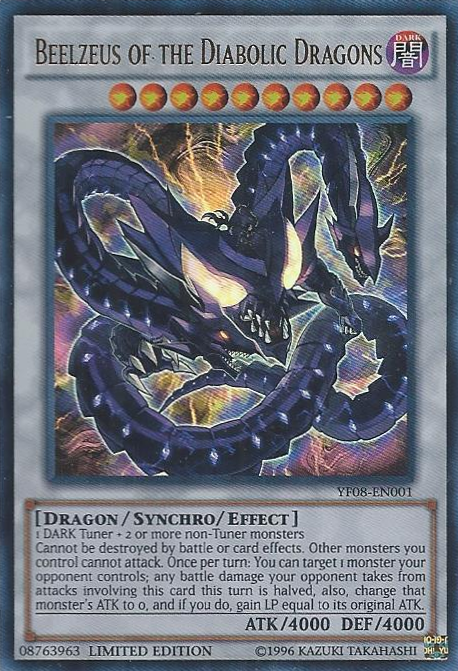 Beelzeus of the Diabolic Dragons, one of the best level 10 monsters in Yugioh
