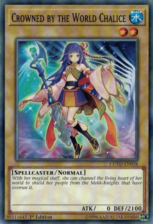 Crowned by the World Chalice, one of the best level 2 monsters in Yugioh