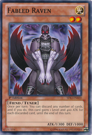 Fabled Raven, one of the best level 2 monsters in Yugioh