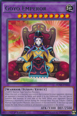 Goyo Emperor, one of the best level 10 monsters in Yugioh