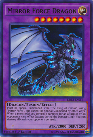 Mirror Force Dragon, one of the best fusion monsters in Yugioh