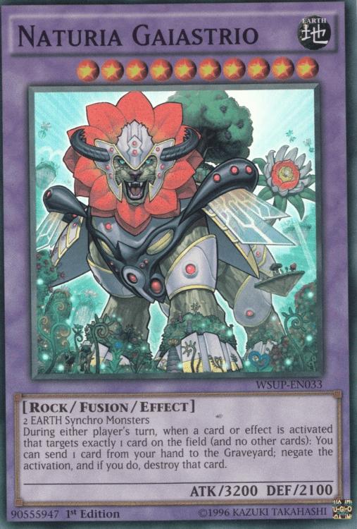 Naturia Gaiastrio, one of the best level 10 monsters in Yugioh