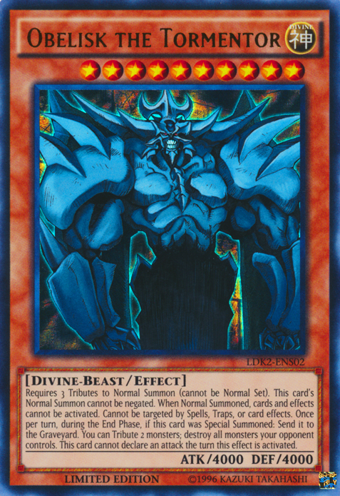 Obelisk the Tormentor, one of the best level 10 monsters in Yugioh