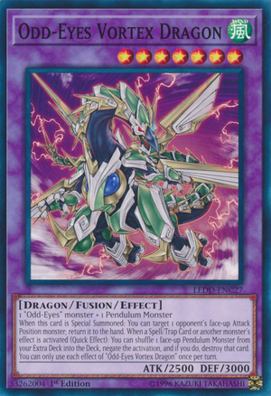 Odd-Eyes Vortex Dragon, one of the best fusion monsters in Yugioh