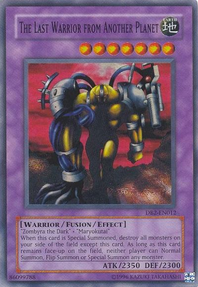 The Last Warrior From Another Planet, one of the best fusion monsters in Yugioh