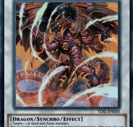 Tyrant Red Dragon Archfiend, one of the best level 10 monsters in Yugioh