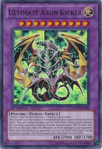 Ultimate Axon Kicker, one of the best level 10 monsters in Yugioh
