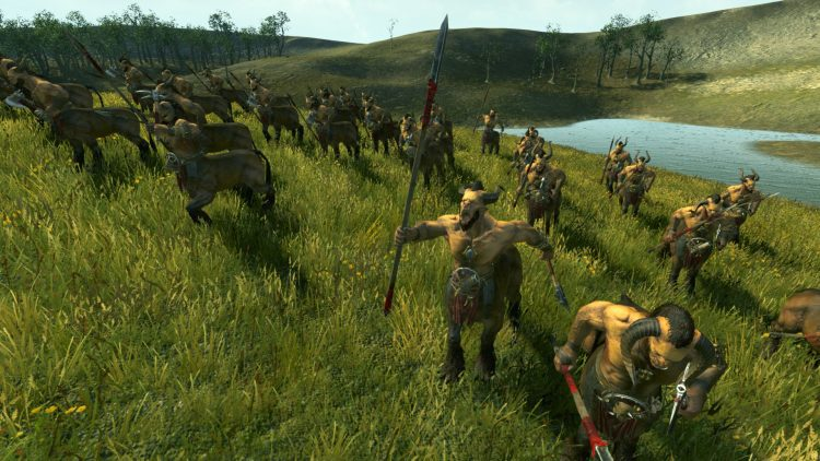 Centigors (Throwing Axes), one of the best Beastmen units in TOTAL WAR: WARHAMMER