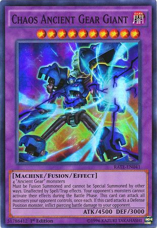 Chaos Ancient Gear Giantone of the best fusion monsters in Yugioh