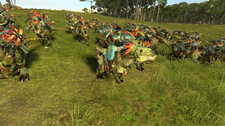 Horned Ones, one of the best Lizardmen units in TOTAL WAR: WARHAMMER 2
