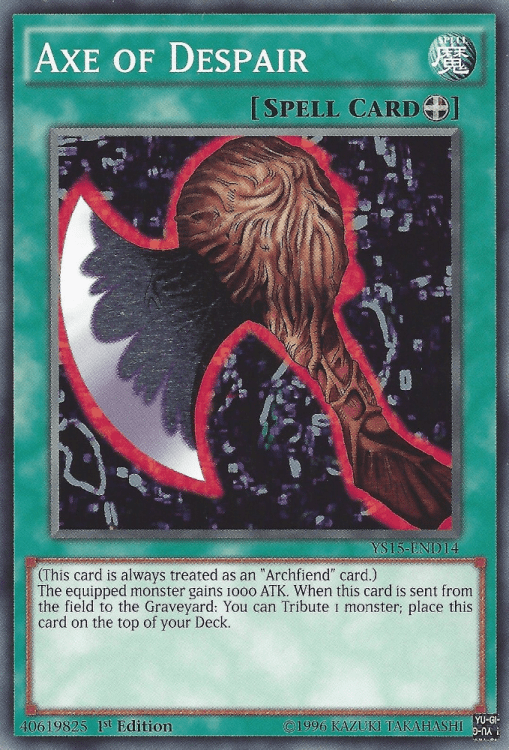 Axe of Despair, one of the best equip spells in Yugioh