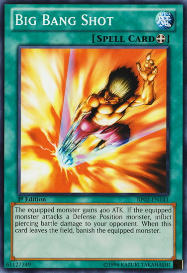 Big Bang Shot, one of the best equip spells in Yugioh