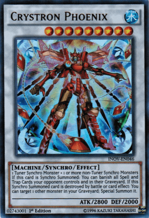 Crystron Phoenix, one of the best level 9 monsters in Yugioh