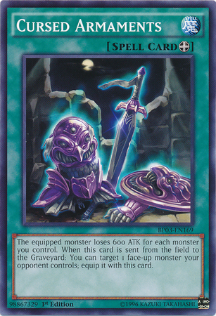 Cursed Armaments, one of the best equip spells in Yugioh