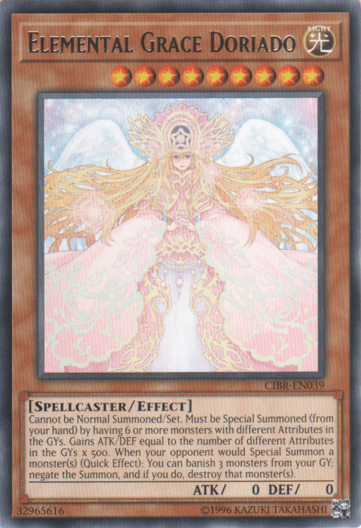 Elemental Grace Doriado, one of the best level 9 monsters in Yugioh