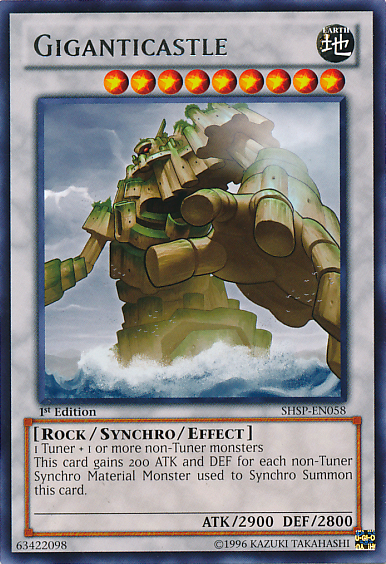 Giganticastle, one of the best level 9 monsters in Yugioh