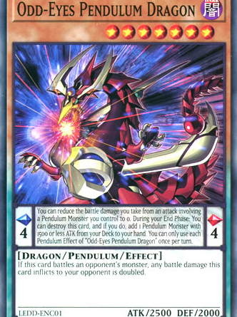Odd-Eyes Pendulum Dragon, one of the best level 7 monsters in Yugioh
