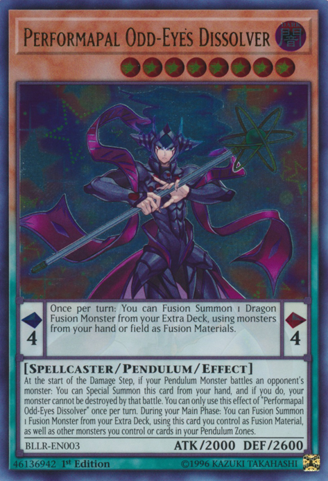 Performapal Odd-Eyes Dissolver, one of the best level 8 monsters in Yugioh
