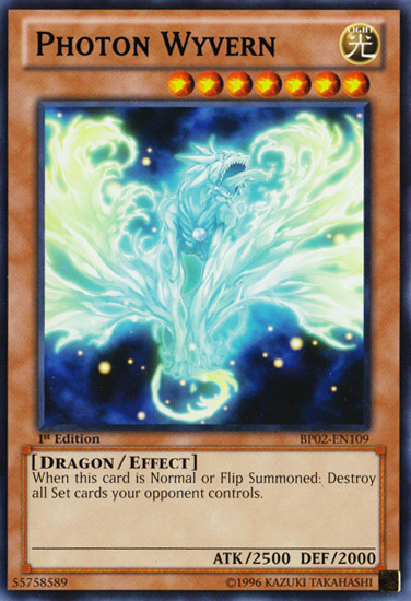 Photon Wyvern, one of the best level 7 monsters in Yugioh
