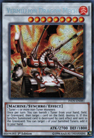 Vermillion Dragon Mech, one of the best level 9 monsters in Yugioh