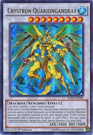 Crystron Quariongandrax, one of the best level 9 monsters in Yugioh