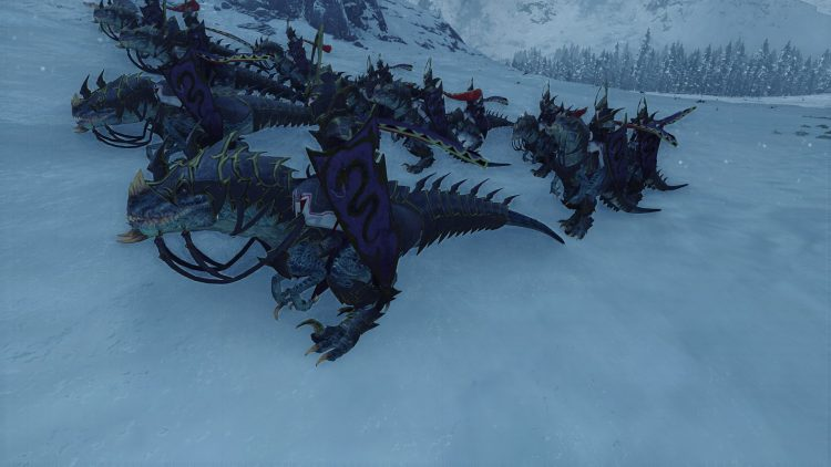 Cold One Dread Knights, one of the best Dark Elf units in TOTAL WAR: WARHAMMER
