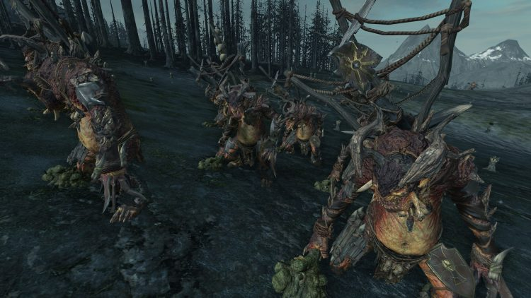 Chaos Trolls (Armored), one of the best Warriors of Chaos units in TOTAL WAR: WARHAMMER