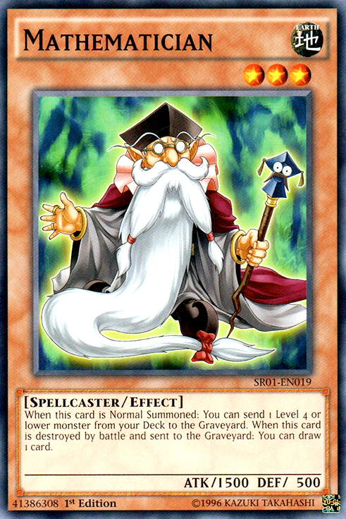 Mathematician, one of the best level 3 monsters in Yugioh