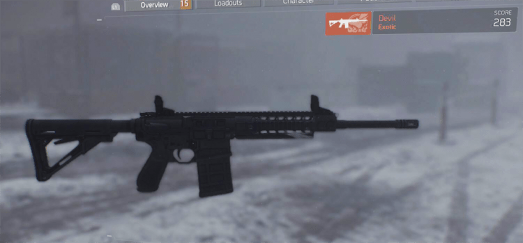 Devil, one of the best marksman rifles in The Divison