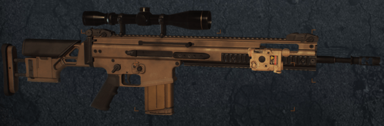 Scar-H, one of the best marksman rifles in The Divison