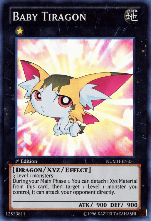 Baby Tiragon, one of the best rank 1 XYZ monsters in Yugioh