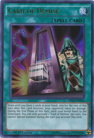 Card of Demise, one of the best draw cards in Yugioh