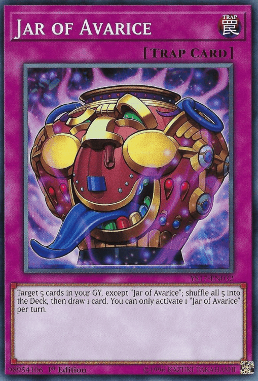 Jar of Avarice, one of the best draw cards in Yugioh