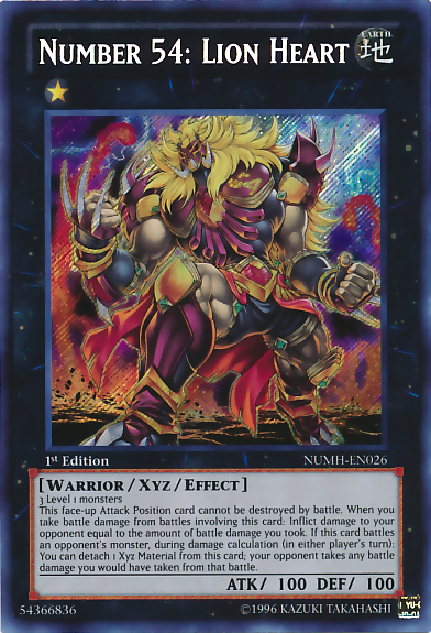 Number 54: Lion Heart, one of the best rank 1 XYZ monsters in Yugioh