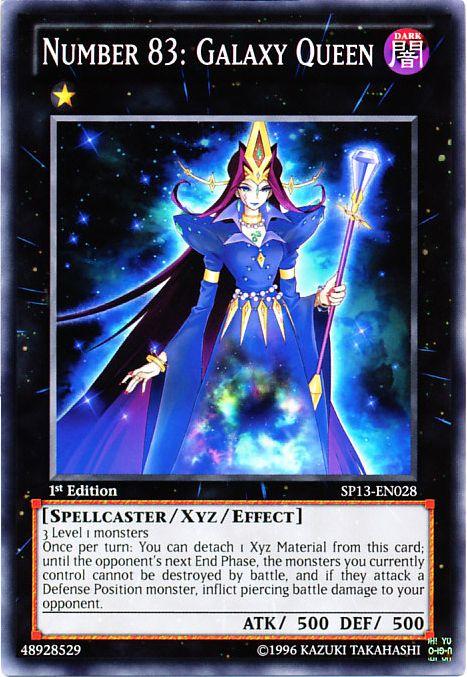 Number 83: Galaxy Queen, one of the best rank 1 XYZ monsters in Yugioh