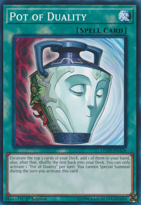 Pot of Duality, one of the best draw cards in Yugioh