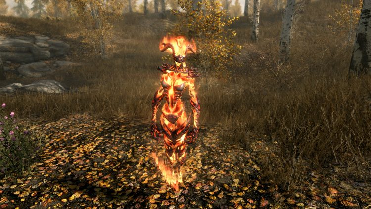 Conjure Flame Atronach, one of the best conjuration spells in Skyrim