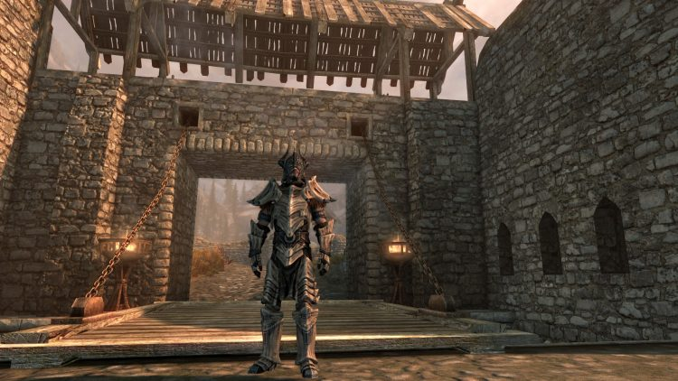 Dragonplate Armor, one of the best heavy armor sets in Skyrim