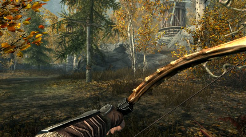 Dragonbone Bow, the best bow in Skyrim!