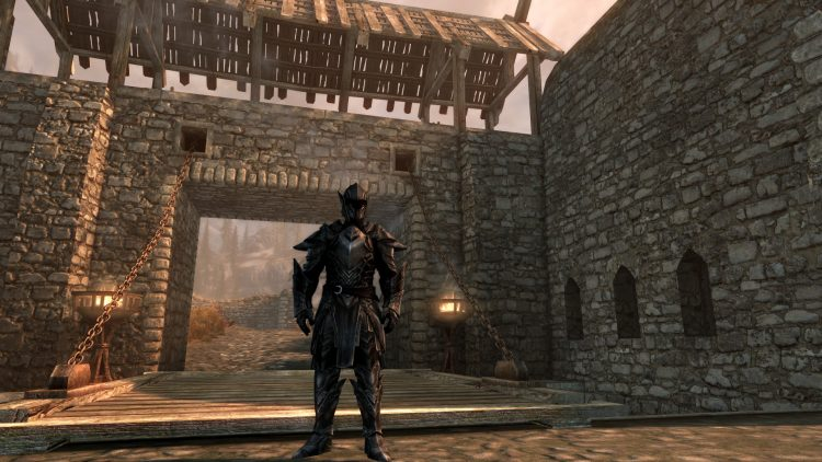 Ebony Armor, one of the best heavy armor sets in Skyrim