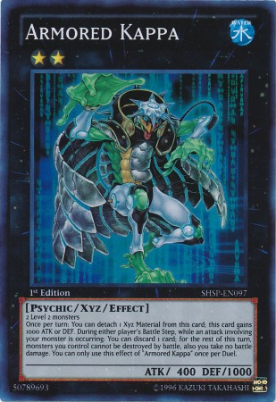 Armored Kappa, one of the best rank 2 XYZ monsters in Yugioh