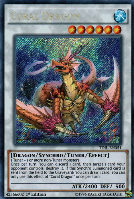 Coral Dragon, one of the best level 6 monsters in Yugioh